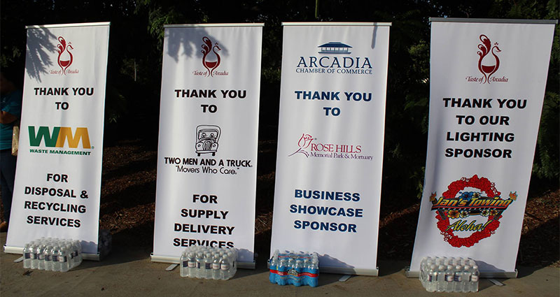 Taste of Arcadia - Sponsorships