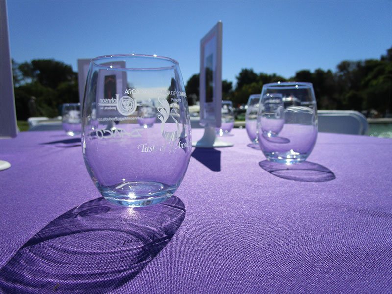 Taste of Arcadia Wine Glasses