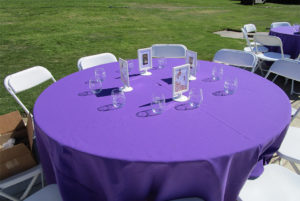 VIP table set up