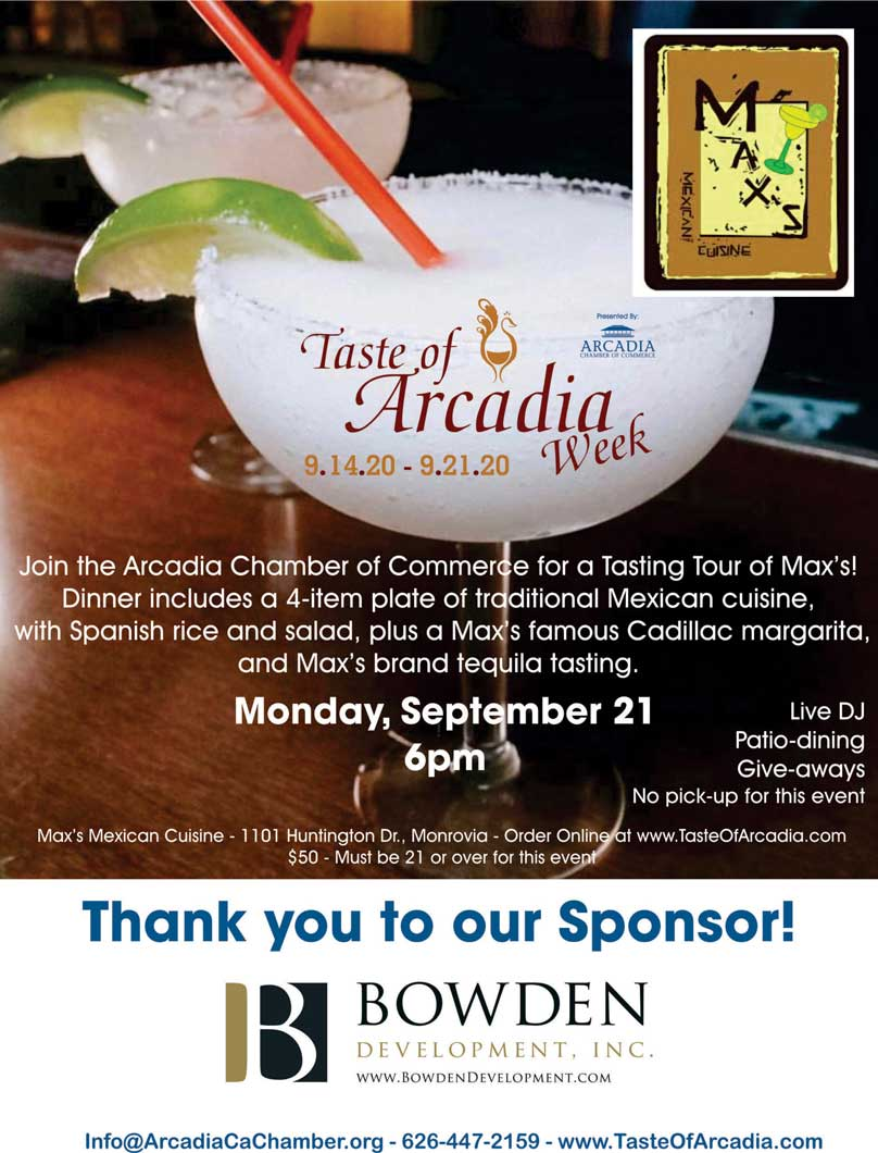 Max's Tequila Tasting events 9.21.20 flyer