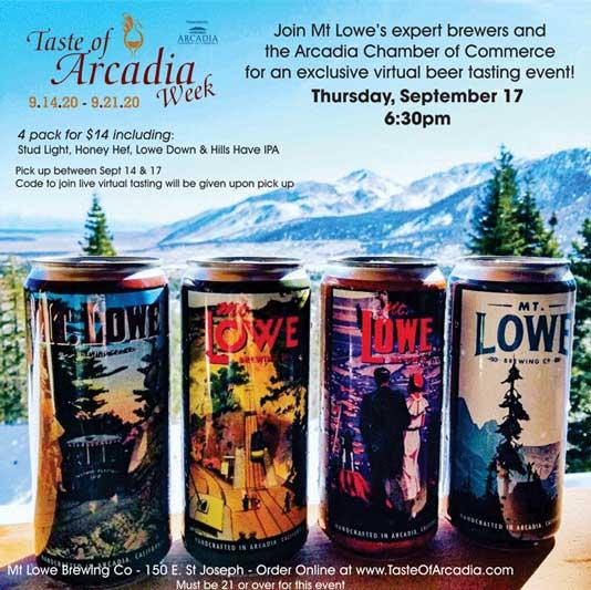Mt Lowe Brewing Co beer tasting
