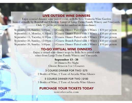 Taste of Arcadia Wine Tasting Event