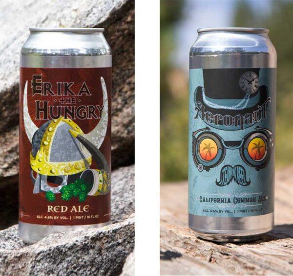 2 can of beer from Wingwalker Brewing for beer tasting