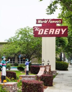 The Derby signage