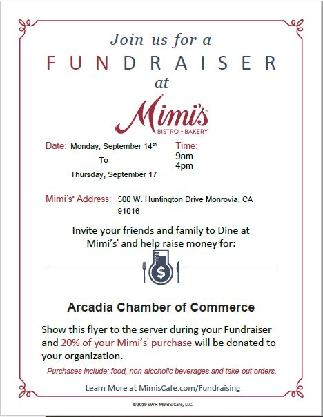 Mimi's Taste Fundraiser flyer